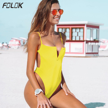 Women Sexy One Piece Swimsuit Push Up Monokini High Cut Swimwear Female Bathing Suit Beach Wear Solid High Leg Swimming Suits sexy one piece swimsuit swimming suit for women high cut swimwear push up shoulder off brazilian monokini biquini bathing suits