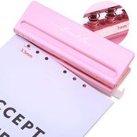 Metal 6 Hole Punch Craft Punch Paper Cutter Adjustable DIY Loose Leaf Paper Punch Scrapbooking Office Stationery