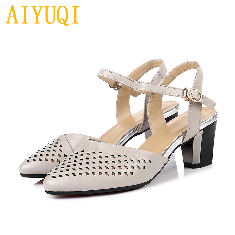 AIYUQI 2019 spring new genuine leather women shoes, Europe and America tide hole eye womens sandals, womens dress sandalsAIYUQI 2019 spring new genuine leather women shoes, Europe and America tide hole eye womens sandals, womens dress sandals