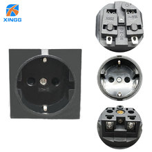 EU PLUG Round 2 Pin Industrial Electrical Power Female Socket Outlet Rewireable Schuko Plug Adaptor