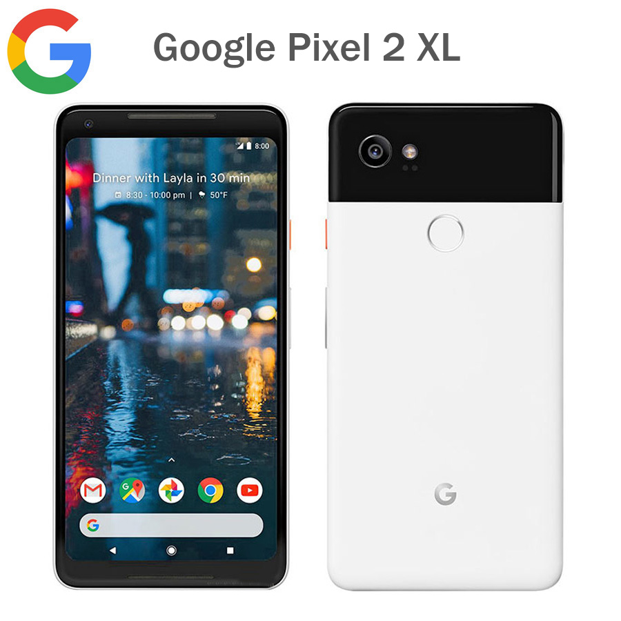 Original EU Version Google Pixel 2 XL 4G LTE Mobile Phone 6.0Inch 4GB RAM 128GB ROM Snapdragon 835 Fingerprint Android Phone NFC