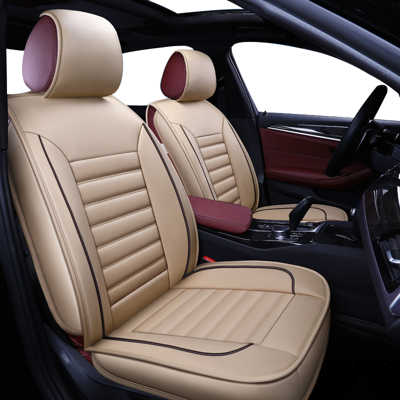 pu leather auto car seat covers For <font><b>audi</b></font> a3 8p 8v sedan <font><b>sportback</b></font> a4 b5 b6 b7 b8 <font><b>a5</b></font> of <font><b>2010</b></font> 2009 2008 2007 Universal cushions image
