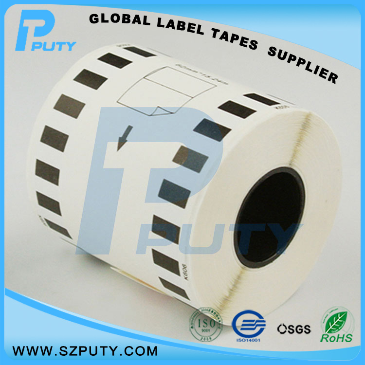 compatible Black on Yellow DK 22606 62mm 15 24m thermal paper rolls for QL label printers