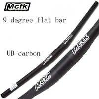 Mcfk UD carbon faser MTB fahrrad lenker mountainbike flache lenker 31,8mm 690 720 750mm radfahren teile 9 grad 5mm aufstieg