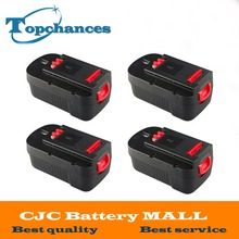 4PCS High Quality 2000mAh 18V NI-CD Replacement Power Tool Battery for Black & Decker HPB18 244760-00 A1718 A18