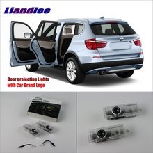 цена на Liandlee Door Welcome Light Shadow LED Laser Projector Logo For BMW 3 F30 2013~2014 Car Courtesy Doors Lights Accessories Parts