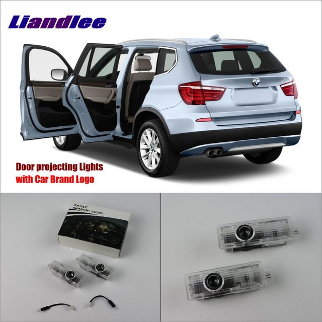 Liandlee Door Welcome Light Shadow LED Laser Projector Logo For - Car sign with nameswholesale no drill led car logo with names laser lights with car