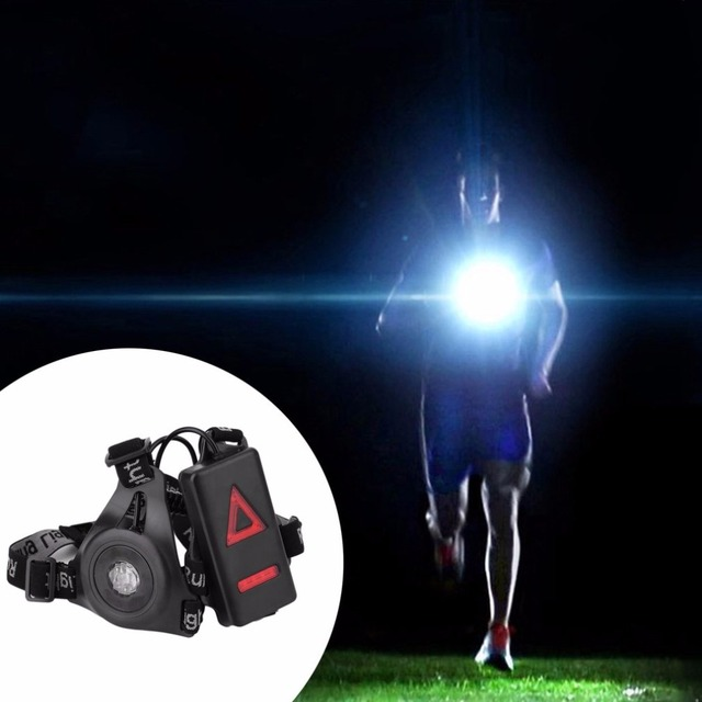 Outdoor Sport Running accessory Lights LED Night Running bag Flashlight Warning Lights USB Charge Chest Lamp White accessory 1