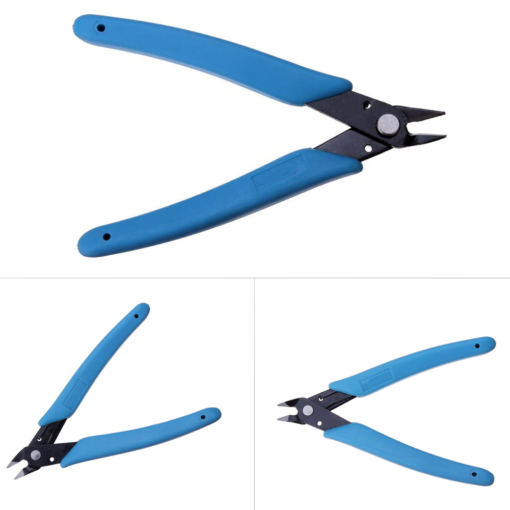 Electric Wire Cutting Pliers Cutter Shears Diagonal Side Cutting Pliers Nippers Plastic+steel Blue Diagonal Side Cutting Nipper free shipping blue vintage side chair