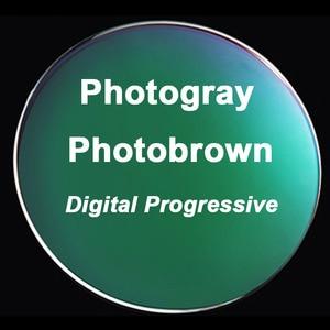 Image 5 - 1.56 Photochromic Free form Progressive Aspheric Optical Prescription Lenses Fast and Deep Color Coating Change Performance