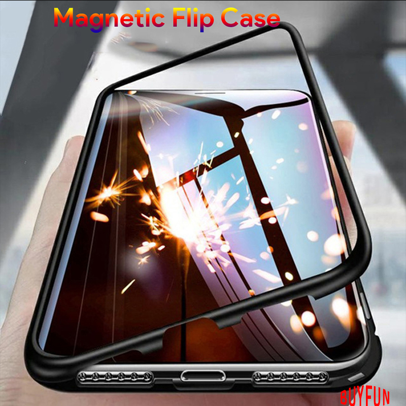 BUYFUN Magnetic <font><b>Flip</b></font> <font><b>Case</b></font> For <font><b>Huawei</b></font> <font><b>Honor</b></font> <font><b>8X</b></font> <font><b>Case</b></font> Back <font><b>Cover</b></font> Tempered Glass Protective Funda Coque For <font><b>Honor</b></font> 8 X X8 honor8 x image