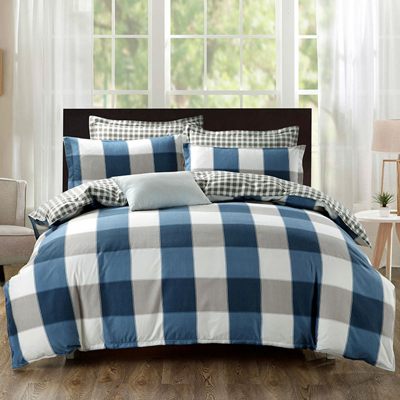 2017 New Stripes And Lattices Bedding Sets Brief Coverlet