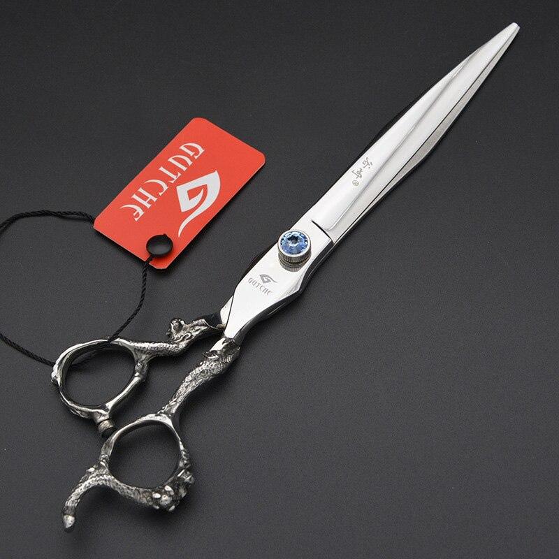 Professional 8inch Pet Dragon Handle Arrow Shape Straight Scissor High Quality Dog Shear Hairdressing Grooming