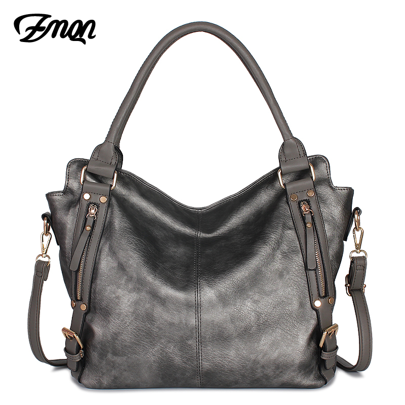 ZMQN Handbags 2019 Luxury Tote Big Bags Handbags Women Famous Brands Vintage Leather Bag Designer For Womens Shoulder Sac A829