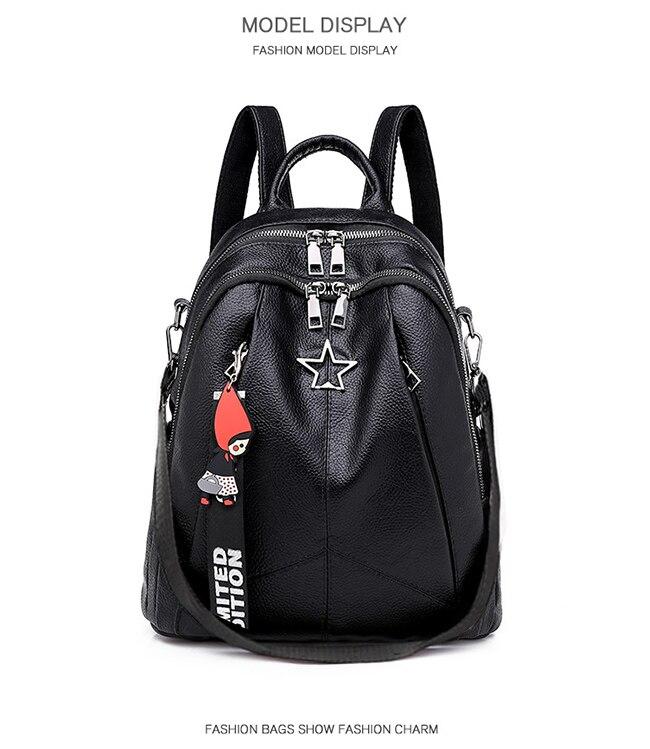 HTB1vXIeLmzqK1RjSZFHq6z3CpXaq Minimalism Female Backpack Pu Leather Youth Women Bagpack Beautiful Fashion Girl Casual Rucksacks Lady Shoulder Bag 2019 New
