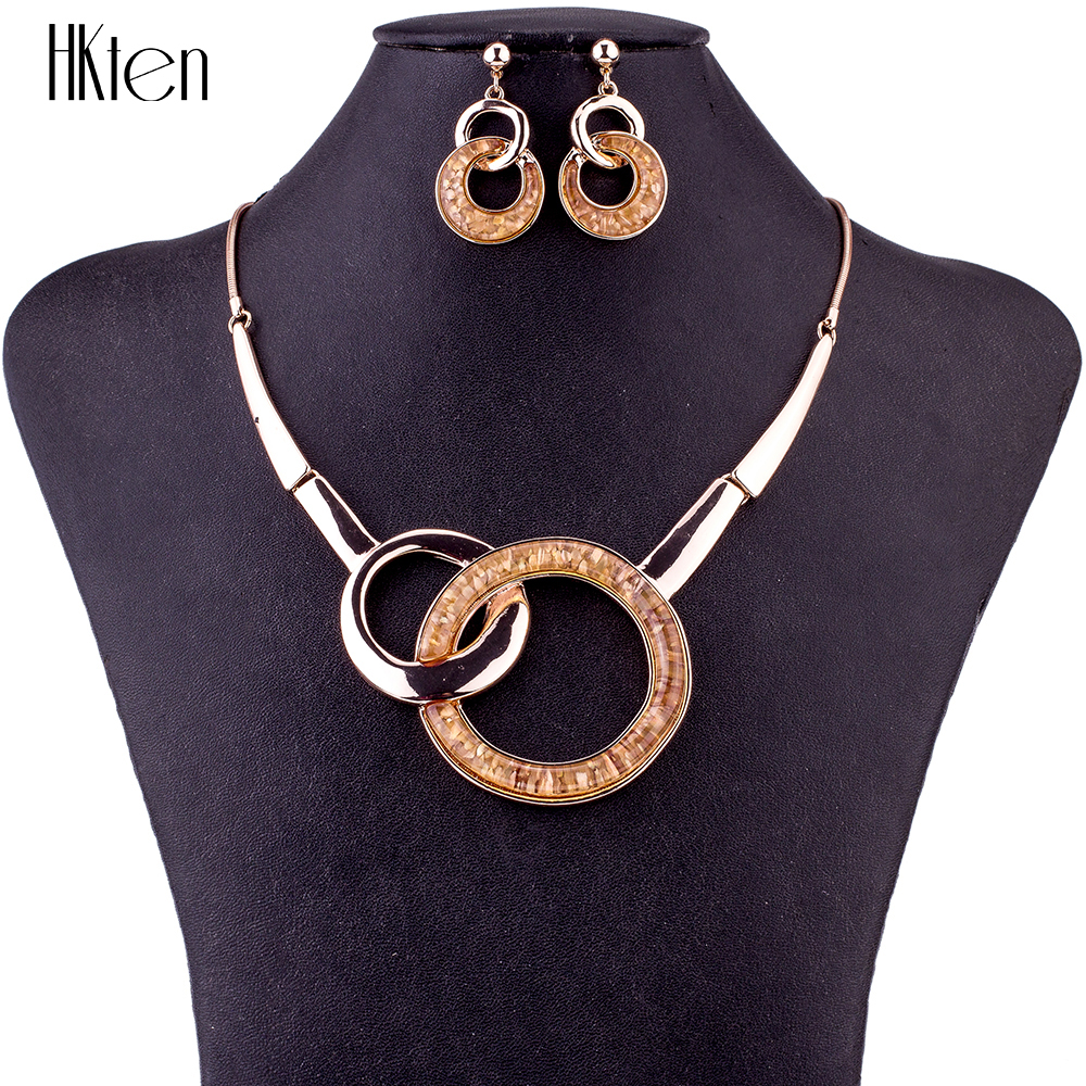цена MS1504724 Fashion Jewelry Sets High Quality Necklace Sets For Women Jewelry Silver Plating Resin Unique Round Design Party Gift