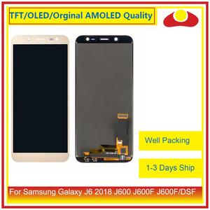 Image 2 - 50 Pcs/lot DHL pour Samsung Galaxy J6 2018 J600 J600F J600FN affichage à cristaux liquides avec écran tactile numériseur panneau approvisionné