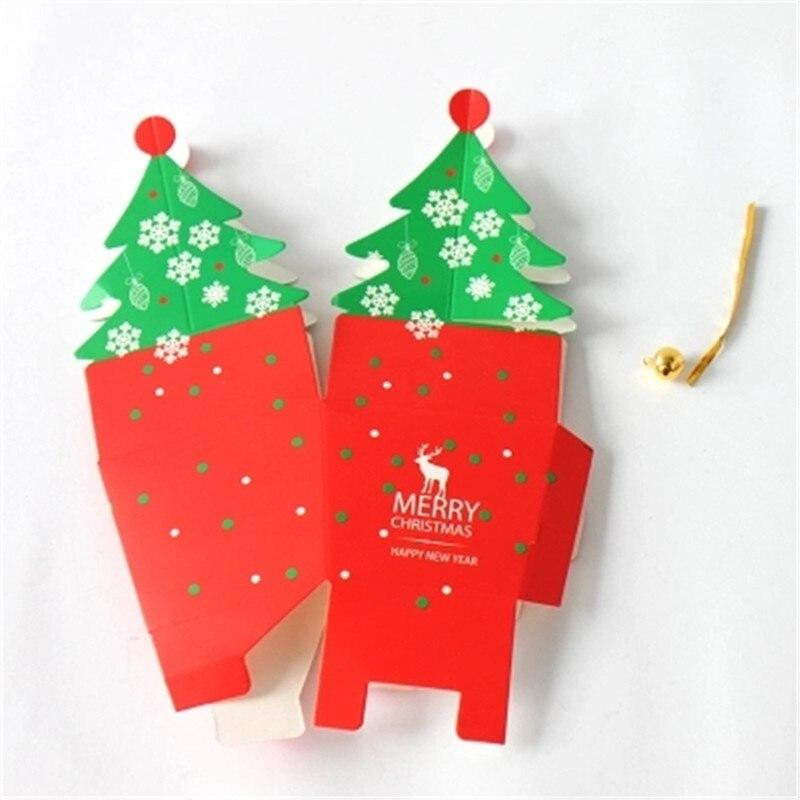 50 stücke Weihnachtsbaum Geschenk Box, Cookie Cholocate ...