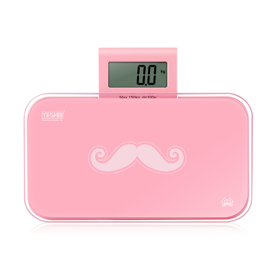 070482 cost-effective quality mustache patterm electronic scale household mini cute health scale small and convenient