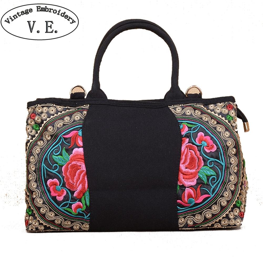 aa332dab53 Shopping Bag Canapa Boho Crossbody Borse Borsa Dell'annata Sacchetto Tela  Spalla Donne Del 3 Ricamo Femminile Casual Bolso Signore Di Delle ...