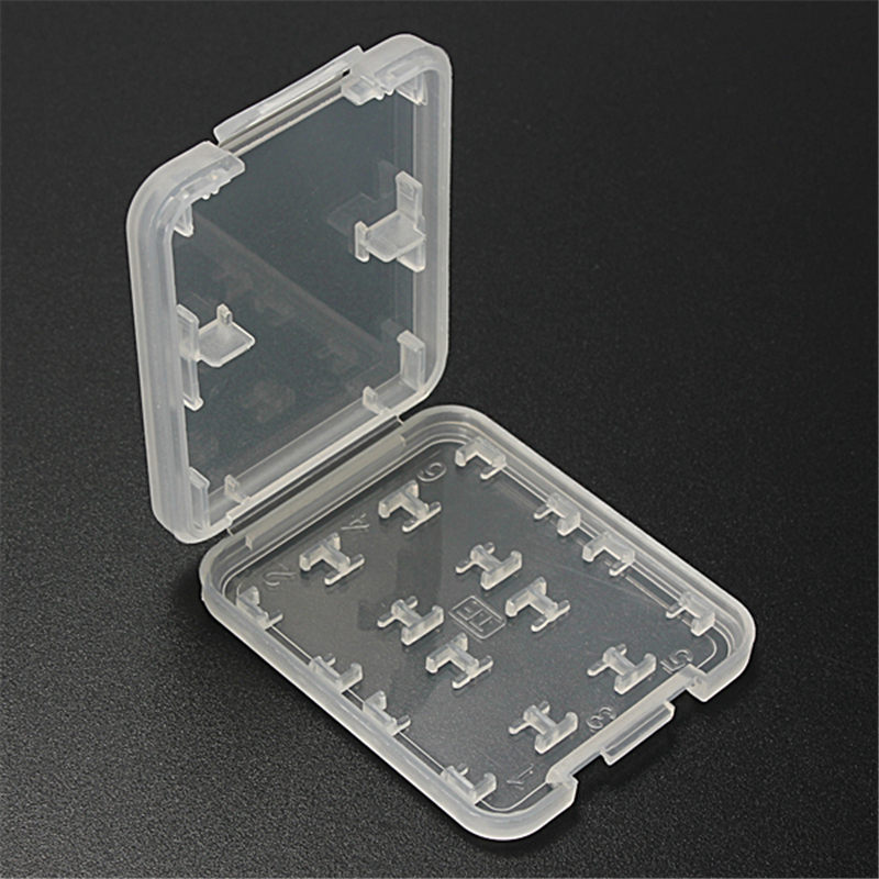 Modern Design 5pcs/lot 8 in 1 High Quality Plastic Micro SD Card Case SDHC TF MS Memory Card Storage Case Box Protector Holder