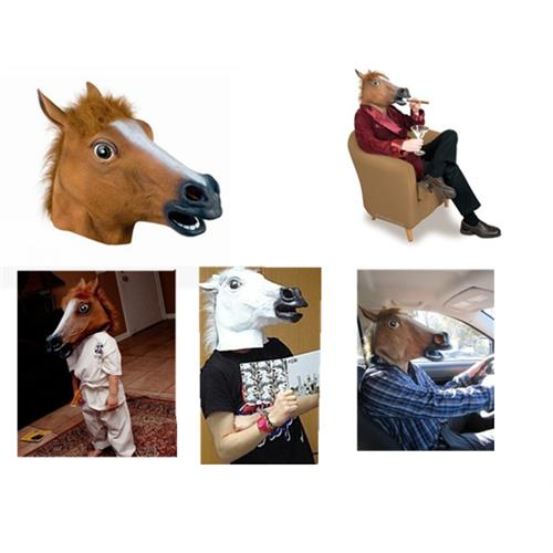 Funny Gadgets Useless Box Funny Halloween Mask Toys Cosplay Wigs Horse Gangnam Style Dance Pleasures Jun Makeup Utensils Elegant In Smell