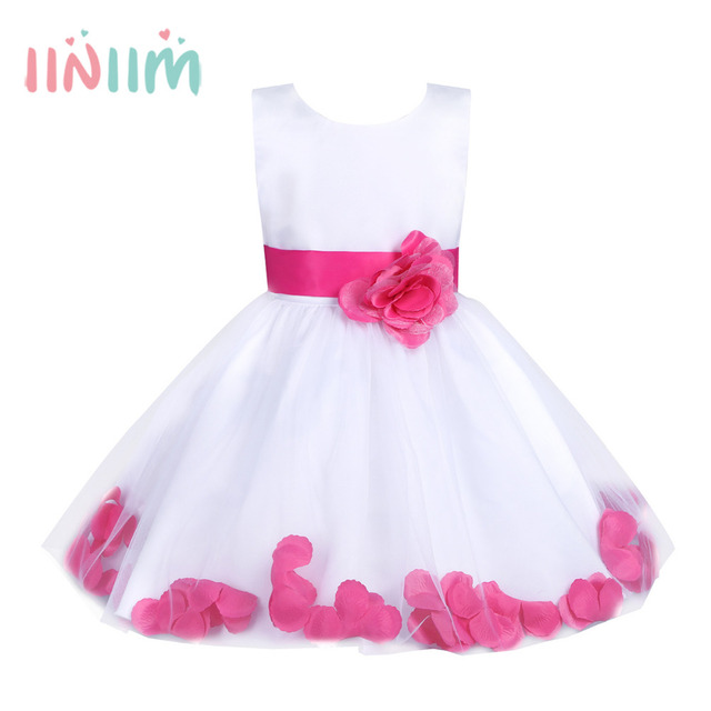 d7a42d41fa121 US $12.99 30% OFF|2 14 Years Flower Girls Dress Formal Party First  Communion Ball Gown Prom Bridesmaid Wedding Clothes for Teen Children's  Dresses-in ...