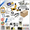 Complete 14 color tattoo ink tattoo needles accessary set Two rotary tattoo machine gun kit