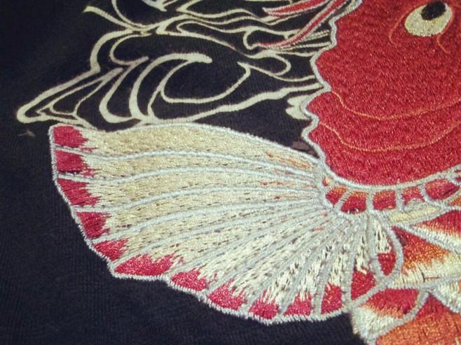 HTB1vXJKLVXXXXa2XpXXq6xXFXXXG - Japan YOKOSUKA embroidery dragon and koi baseball uniform unisex shirt