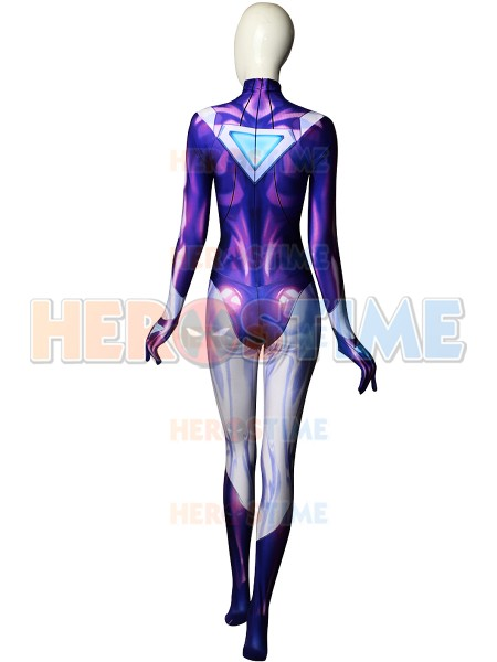 LOL DJ Sona Ethereal Costume 3D Printting Halloween Cosplay Game DJ Sona Jumpsuit Fullbody Zentai Catsuit Free Shipping