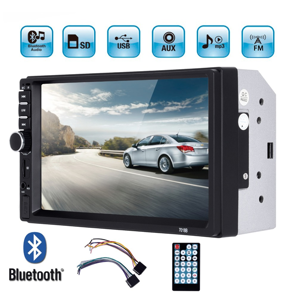 7 Double 2 Din Car Radio Player Autoradio Touch Screen Multimedia MP5 Player USB FM Bluetooth Rear View Camera Car Stereo Audio podofo 2 din car radio 7 hd touch screen car stereo bluetooth car radio audio mp5 car multimedia player fm usb autoradio camera