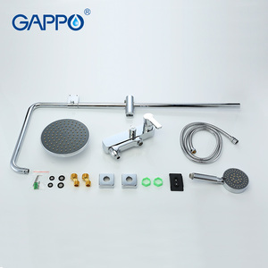 Image 4 - GAPPO Shower Faucets Set Rainfall Shower Head Bathtub Mixer Faucet Tap Bathroom Stainless Shower Adjustable Slide Bar Shower Tap