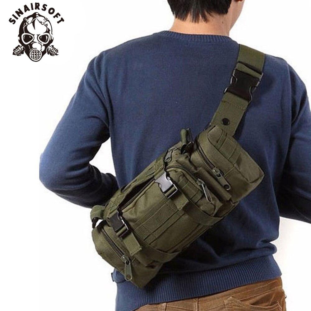 SINAIRSOFT de alta calidad mochila táctica militar para exteriores paquete de la cintura bolsa Mochilas Molle Camping senderismo bolsa 3P bolsa de pecho