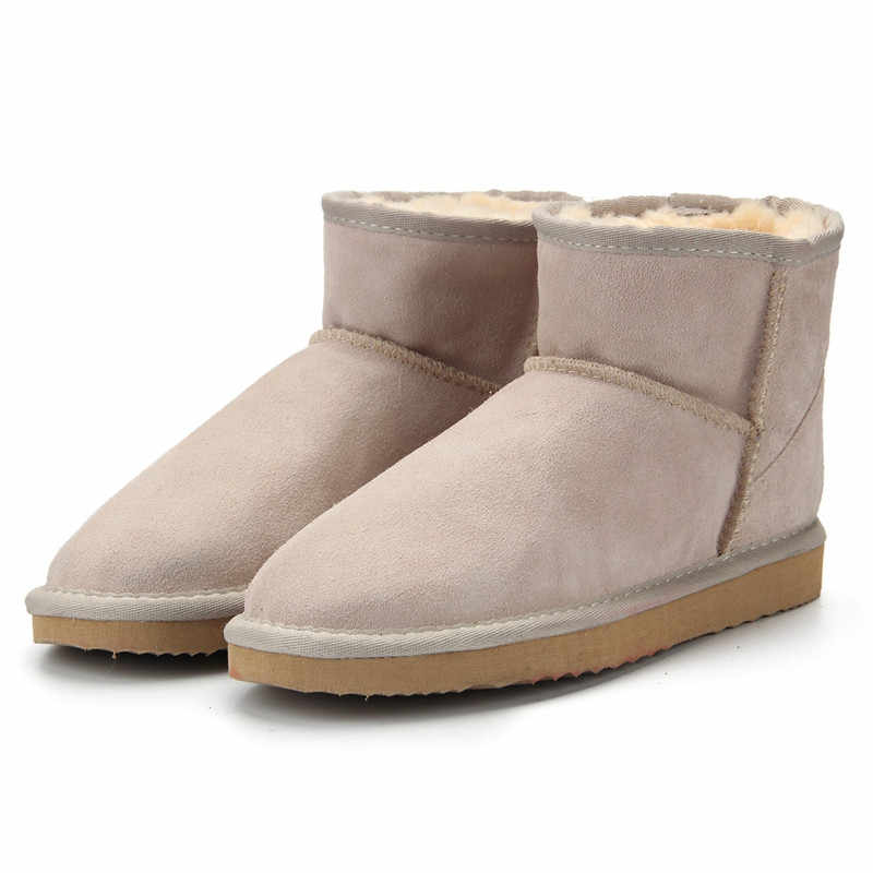 JXANG Hoge Kwaliteit Australië Merk Winter vrouwen Snowboots Koe Split Leather Ankle Schoenen Vrouw Bont Botas Mujer Grote size