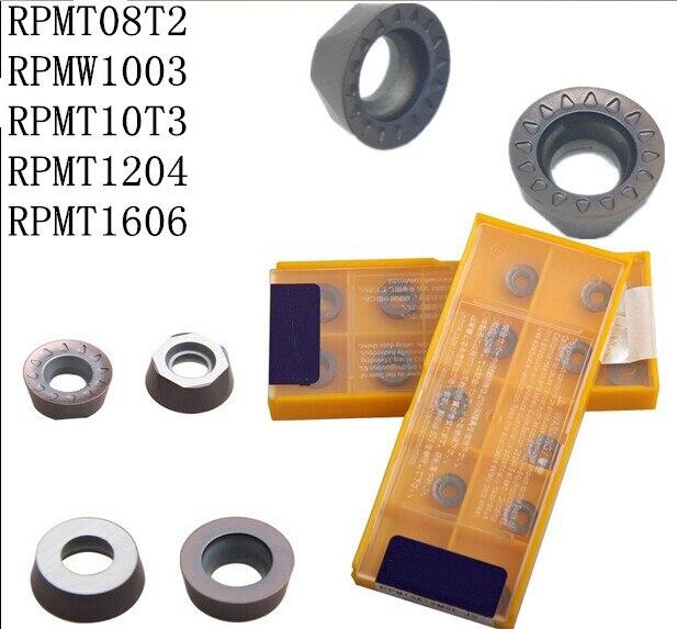20pcs Carbide Insert RPMT08T2-JS/RPMT10T3-JS/RPMT1204/RPMW1003/RPMT10T3 VP15TF RPMT10T3MOE-JS EMR 6R-50-22-4T CNC Milling Cutter