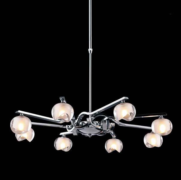 Simple Creative Modern Fashion LED Pendant Light Stainless Steel Glass Fixtures For Bar Dining Room Hanging Lamp Indoor Lighting modern crystal chandelier led hanging lighting european style glass chandeliers light for living dining room restaurant decor