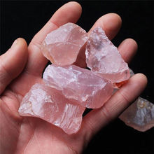 Natural Pink Quartz Crystal Stone Rock Mineral Specimen Treatment Stone Point Healing Hexagonal Wand DIY Pendant 2-3cm(China)