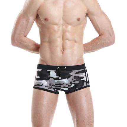 Free shipping!Brand SEOBEAN Men beach pants Mens Swimwear Trunks Bikini Gay Penis Pouch Swim boxers Camouflage swimming trunks
