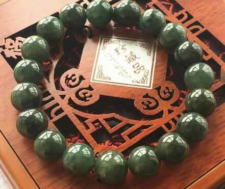Free Shipping 10MM Certified Untreated Green Icy Jadeite Jade Bracelet Special offer 7.5 ""