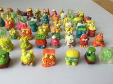 10 PCS Colorido dos desenhos animados anime figura de ação toy2-3cm, PVC macio pacote de lixo de lixo modelo de brinquedo para crianças, enviando aleatoriamente