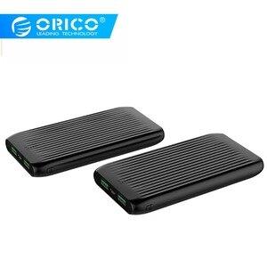 Image 1 - ORICO 10000mAh Ultra Sottile Accumulatori e caricabatterie di riserva Dual USB Esterno Batteria di Grande Capacità Pacchetto del Caricatore Powerbank per il Telefono Mobile Tablet