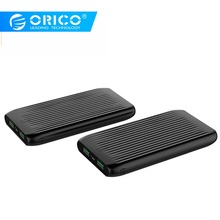 Orico 10000 mah 울트라 슬림 전원 은행 듀얼 usb 외부 대용량 배터리 팩 powerbank 충전기 휴대 전화 태블릿