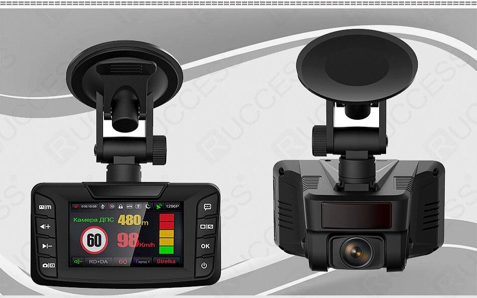 Ruccess Radar Detectors 3 in 1 DVR Radar Detector GPS Anti Radar for Car Full HD 1296P Car Camera 1080P Video Recorder Auto (3)