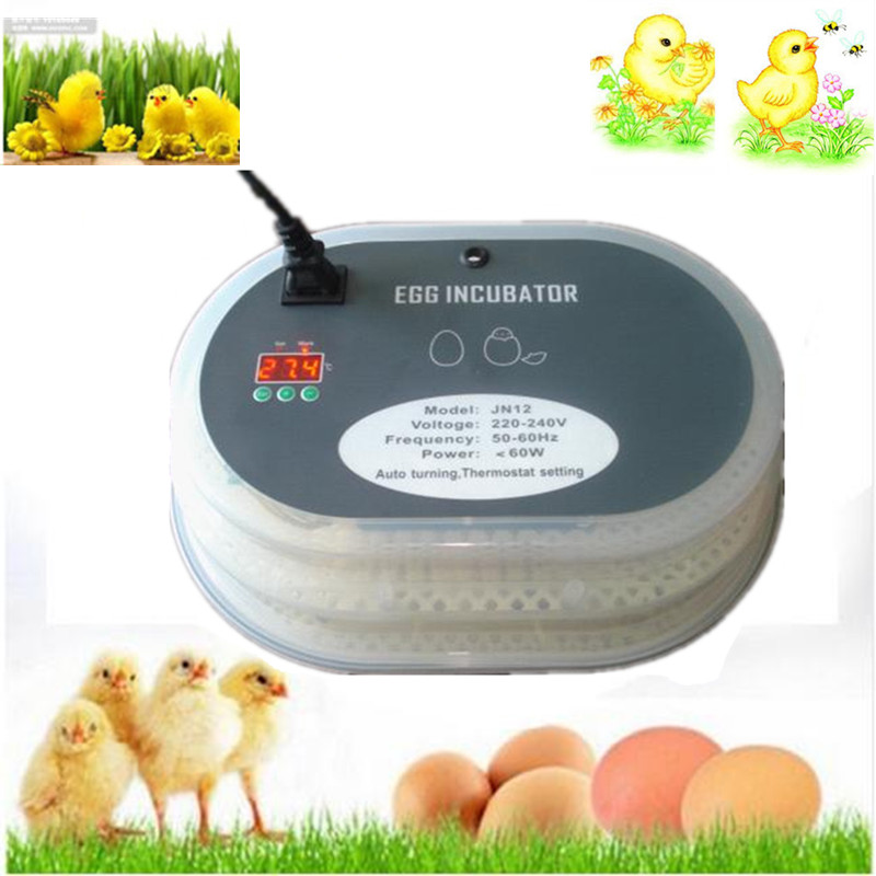 Best Price 12 eggs mini home  poultry incubator electric digital temperature control for chicken eggs brooder hatcher machine best price 5pin cable for outdoor printer