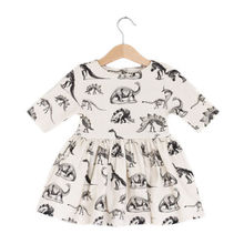 unicorn Kids Baby Girl dress Animal Half Sleeve Dinosaur Dre