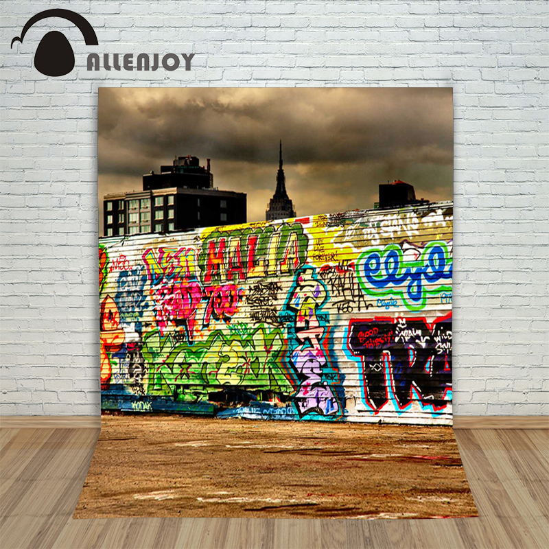 Christmas Graffiti Background.Allenjoy Photographic Background Graffiti Dark Wooden Walls