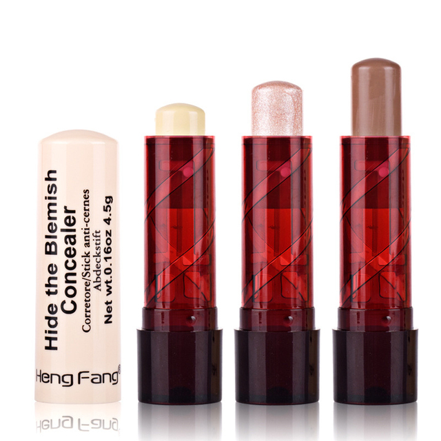 Professional Ladies Makeup Face Blush Contour Highlighter Stick Foundation Make Up Bronzer Base Concealer Pencil Maquiagem 2