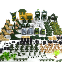 200pcs Plastic Soldier set Military Toy Model Set With Tank Helicopter Model Best Gift For Boys Children