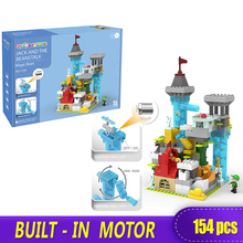 XINGBAO New Electric Cycle Slide Castle 154 PCS Big Bricks Duplo Building Blocks Toy Childrens Gift DIY Compatible With Logo