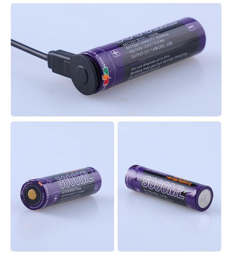 Image 5 - 10PCS Laptop battery USB 18650 3500mAh 3.7V Li ion battery USB 5000ML Li ion Rechargebale battery + USB wire-in Laptop Batteries from Computer & Office